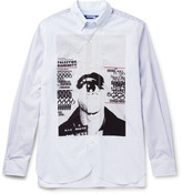 Junya Watanabe - Slim-fit Button-down Collar Printed Striped Cotton Shirt