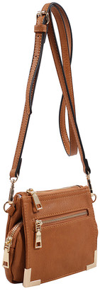 MKF Collection by Mia K. Women's Crossbodies Light - Light Brown Ellie Crossbody Bag