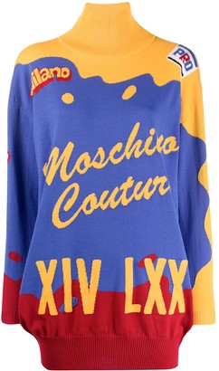 Moschino short intarsia knitted dress