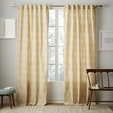 Cotton Canvas Stamped Dots Curtain - Horseradish