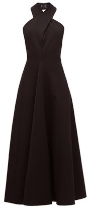 Jil Sander Halterneck Wool Twill Dress - Black