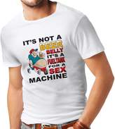 "lepni.me T shirts for men ""It's Not a Beer Belly It's a Fuel tank for a Sex Machine"" for beer lovers"