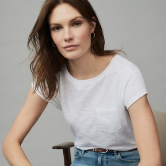 The White Company Organic Cotton Jersey Crew-Neck T-Shirt, White, 12