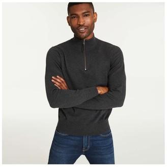 Joe Fresh Men's Quarter Zip Sweater, Dark Charcoal Mix (Size M)