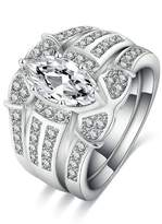 AmDxD Jewelry Plated Engagement Rings for Women Horse Eye Size 8