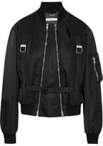 Givenchy Canvas-trimmed Shell Bomber Jacket - Black