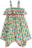 Sweet Heart Rose Cactus-Print Pom-Pom Dress, Toddler and Little Girls (2T-6X)