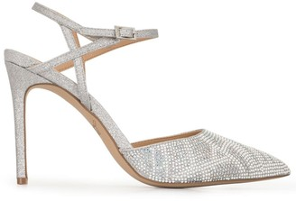 Badgley Mischka Fedora crystal-embellished pumps