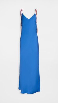 Dannijo Tie Strap Long Slip Dress