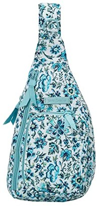 Vera Bradley Iconic Mini Sling Backpack (Cloud Vine) Backpack Bags