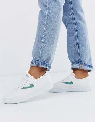 Tretorn lace up sneakers white and green