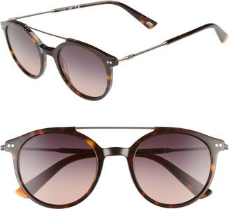 Web 50mm Round Aviator Sunglasses