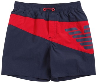 Emporio Armani Logo Printed Swim Shorts
