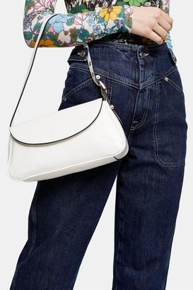 Topshop EVE White Buckle 90's Shoulder Bag