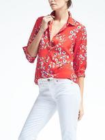 Banana Republic Easy Care Dillon-Fit Floral Shirt