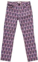 Tory Burch Printed Straight-Leg Jeans