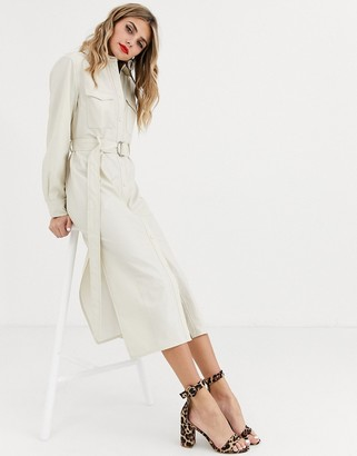 Skylar Rose maxi shirt dress with belted waist