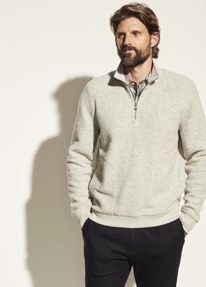 Vince Boucle Quarter Zip Pullover