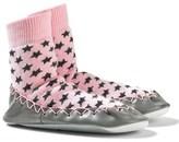 Moccis Pink Star Print Moccasin Socks