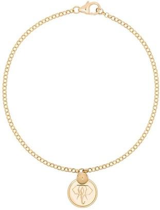 Foundrae 18kt Gold Elephant Charm Bracelet