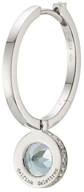 Delfina Delettrez Seal 18kt White Gold Hoop Earring with Aquamarine and White Diamonds
