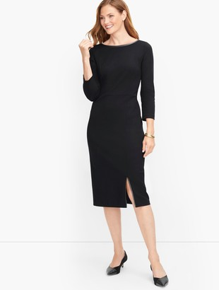 Talbots Tipped Ponte Sheath Dress