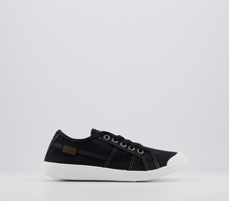 Blowfish Malibu Vesper Sneakers Black Color Washed Canvas
