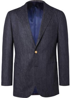 Beams Navy Slim-Fit Trofeo Wool-Denim Blazer