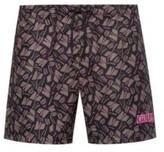 HUGO BOSS - Quick Drying Swim Shorts With Tulip Print - Open Beige