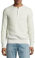 Rag & Bone Jenson Henley T-Shirt, Light Gray Melange