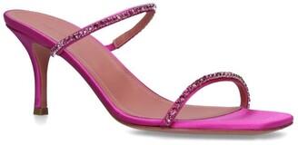 Amina Muaddi Crystal-Embellished Gilda Mules