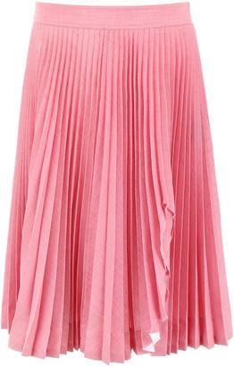 Calvin Klein Slit Pleated Skirt