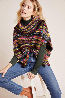 Anthropologie Piera Knit Turtleneck Poncho