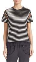 RED Valentino Striped Cotton Pullover