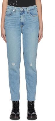 Rag & Bone/JEAN NINA' Distress Knee Cigarette Jeans