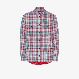 Moncler Genius Briere check quilted shirt jacket