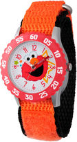 Sesame Street Orange And White Elmo Time Teacher Strap Watch W003174