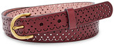 Fossil Scalloped Perforated Belt