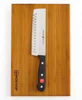 Wusthof Gourmet Nakiri Knife and Bamboo Board Set
