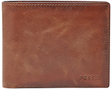 Fossil Derrick Large Coin Pocket Bifold Wallet, Brown