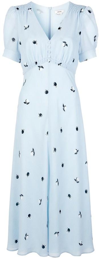 Jason Wu Fruit Print Midi Dress