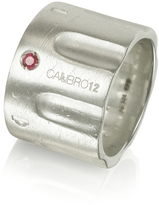 Forzieri Calibro12 Limited Edition Sterling Silver and Ruby Ring w/Chain