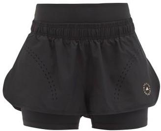adidas by Stella McCartney Truepurpose Double-layer Technical Shorts - Black