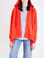 Clu Asymmetric cotton-jersey hoody