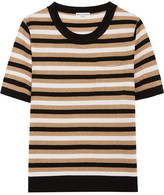 Sonia Rykiel Metallic Striped Knitted Top - Gold