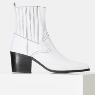 Shoe The Bear White Georgia Leather Chelsea Boot - 36