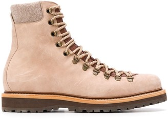 Brunello Cucinelli lace-up work boots