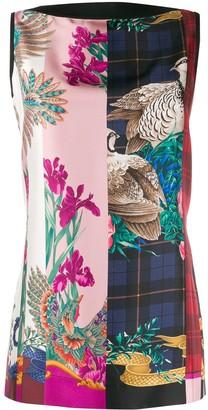 Salvatore Ferragamo Printed Front Sleeveless Top