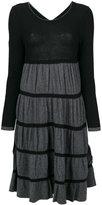 Twin-Set ruffle jersey dress - women - Polyamide/Viscose/Wool/Alpaca - XS
