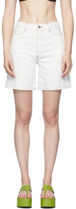 Simon Miller White Lyra Denim Shorts